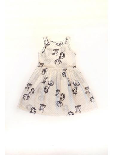 Hays Kız Çocuk Kolsuz Penye Elbise Gri